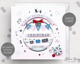 Personalised Christmas Card, New Parent, Mum, Dad, Husband, Christmas Baby Card, Wife, First Christmas, First Christmas Baby, New Arrival