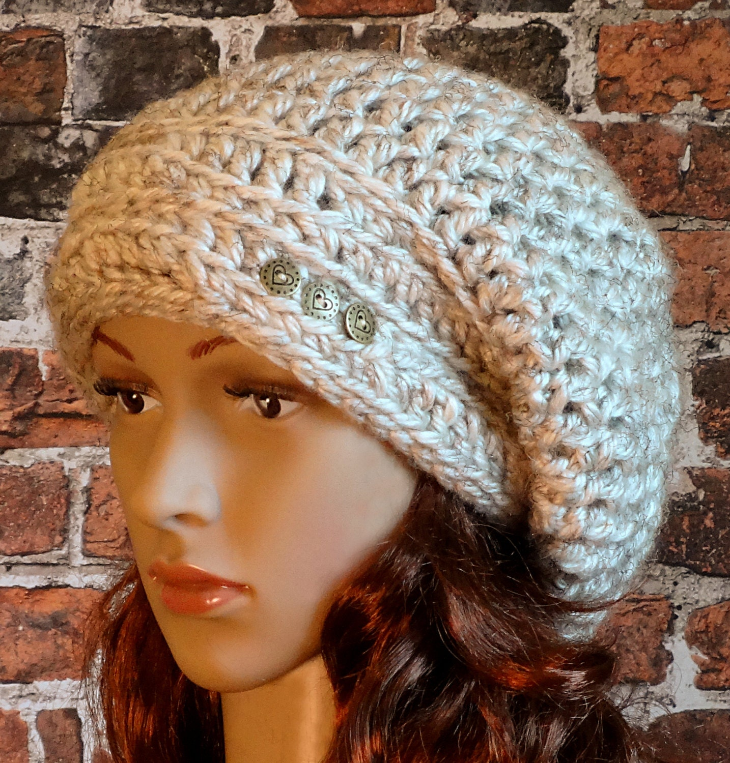 Crochet Pattern Instant Download Womens Teens Slouchy Hat Etsy