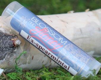 Ex-spearmintal Science Puns Geek Punny Lip Balm Chapstick Beeswax Chap Stick Organic Lip Balm Natural Lip Balm Best Lip Balm Essential Oil