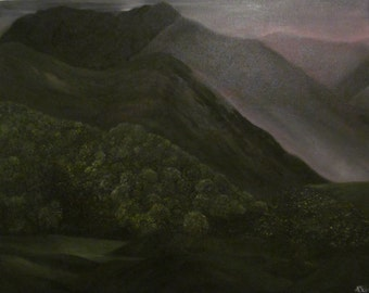 Original Oil Painting Sunset