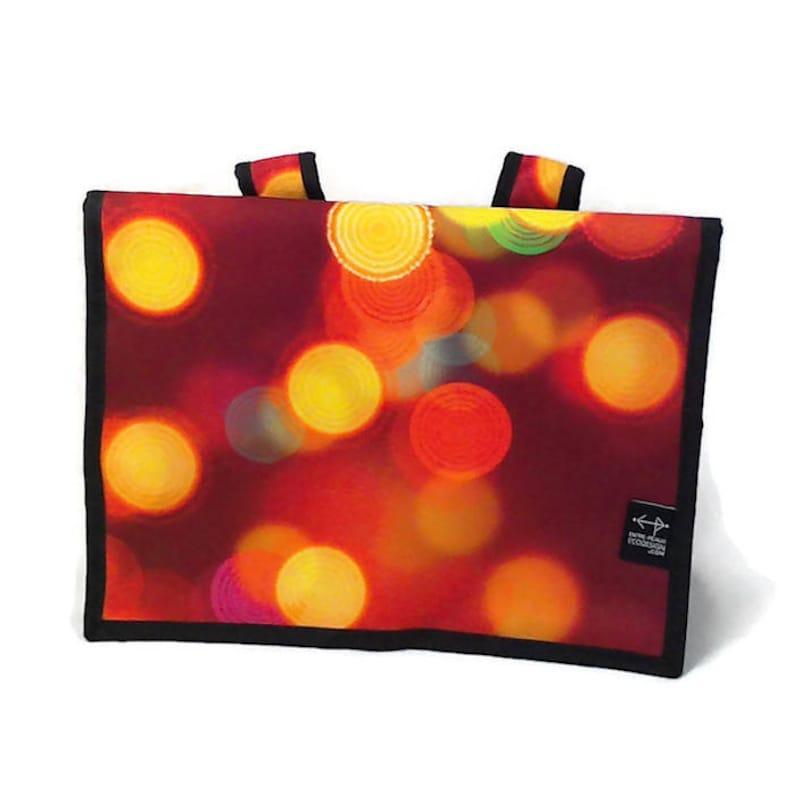 Bag back medium round with light yellow orange red
