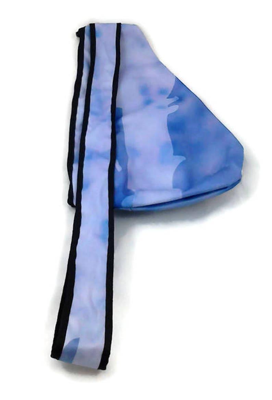 black bag Back small blue white