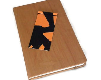 bookmark, bookmark, read, salvaged, reclaimed, recycled, recycled, black, orange