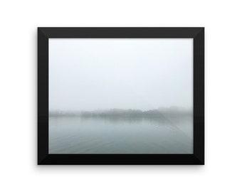Foggy Morning at the Lake Nature Framed photo paper poster / Glossy Finish Print