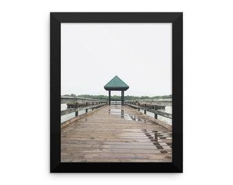 Light Rain At The Pier Framed poster