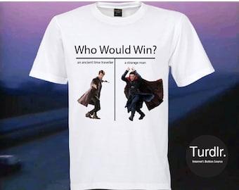 Doctor Who vs Doctor Strange T-Shirt/Doctor Who T-Shirt/Doctor Strange T-Shirt/Crossover T-Shirt/Fandom T-Shirt/Meme T-Shirt