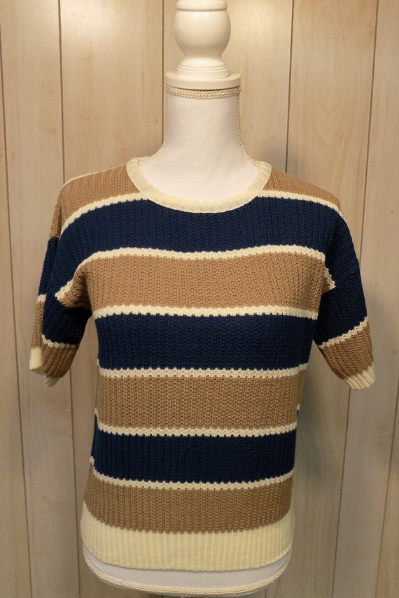 Catalina Women's Sweater Short Sleeves Size M Vint