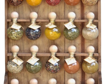 """20 bubbles dyed spice racks wood """"Bubbles of spices"""""""