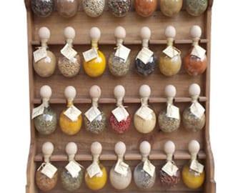"tint 28 bubbles Spice rack wood ""Bubbles of spices"""