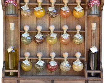 """15 bubbles + oil Spice rack color drink """"Bubbles of spices"""""""