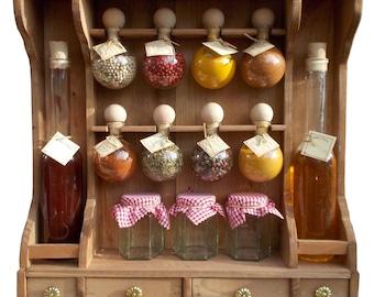 8 Spice rack bubbles + color wood oil