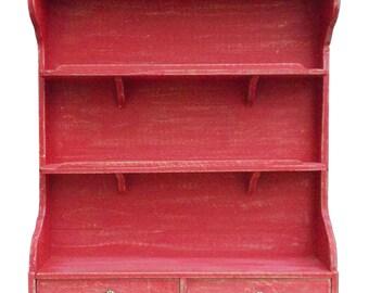 Red patina Spice jar for kitchen shelf