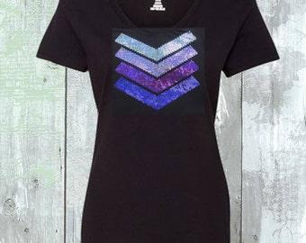 Purple Sequins Design Shirt - Choose Your Theme Colors