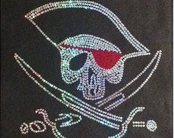 Gasparilla Skull Sequins Pirate Shirt