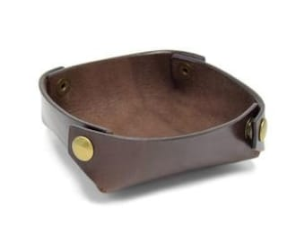 Leather Travel Tray - The Folding Valet Tray
