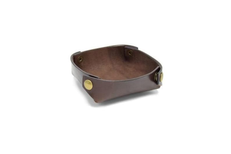 Leather Travel Tray  The Folding Valet Tray image 0