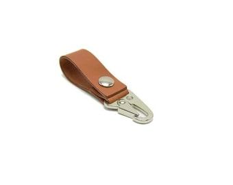 Tactical Belt Loop Keychain - Steel