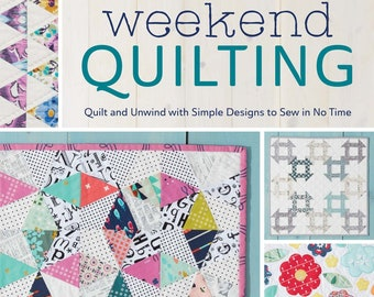 Two sizes included Easy quilt using half square triangles Quilt pattern Aurora Quilt Designed by Jemima Flendt for Tied with a ribbon