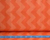End of Bolt, Chevron Orange Fabric, Orange Fabric, Medium Chevron, Halloween, Riley Blake Designs, 100 Quilting Cotton Fabric, Zig Zag