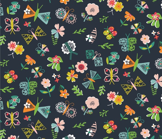100/% Cotton Fabric Club Tropicana by Dashwood Studio Green Forest Leaves Flowers