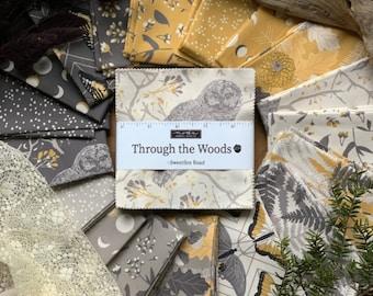 "Charm Pack Bundle Fabric, Through the Woods, 42pcs-5"" precut, Sweetfire Road, Moda Fabrics, 100% Cotton, 43110PP"