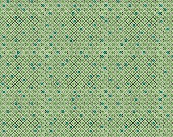 FQ, Flea Market Needlepoint Green Fabric, Lori Holt, Bee in My Bonnet, Riley Blake Designs, C10224-Green