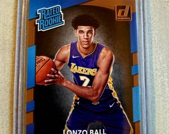 5c8516fb108c Lonzo Ball Rookie Card - Los Angeles Lakers Gift - LA Lakers