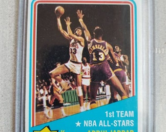 Kareem Abdul Jabbar Vintage 1972 Basketball Card Los Angeles Lakers Gift LA Gifts For Men Him Boyfriend
