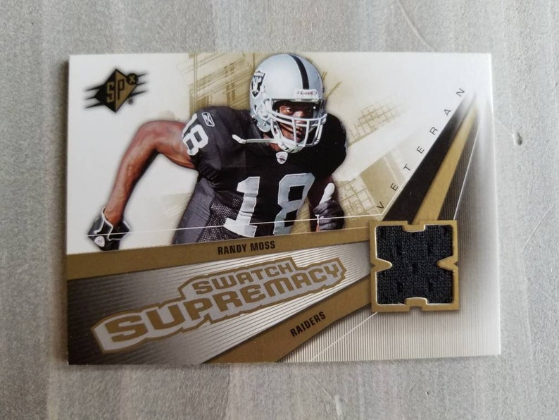 Randy Moss Game Used Jersey Card Oakland Raiders Gift Gifts For Men Gifts For Boyfriend Gift For Him Raiders Jersey