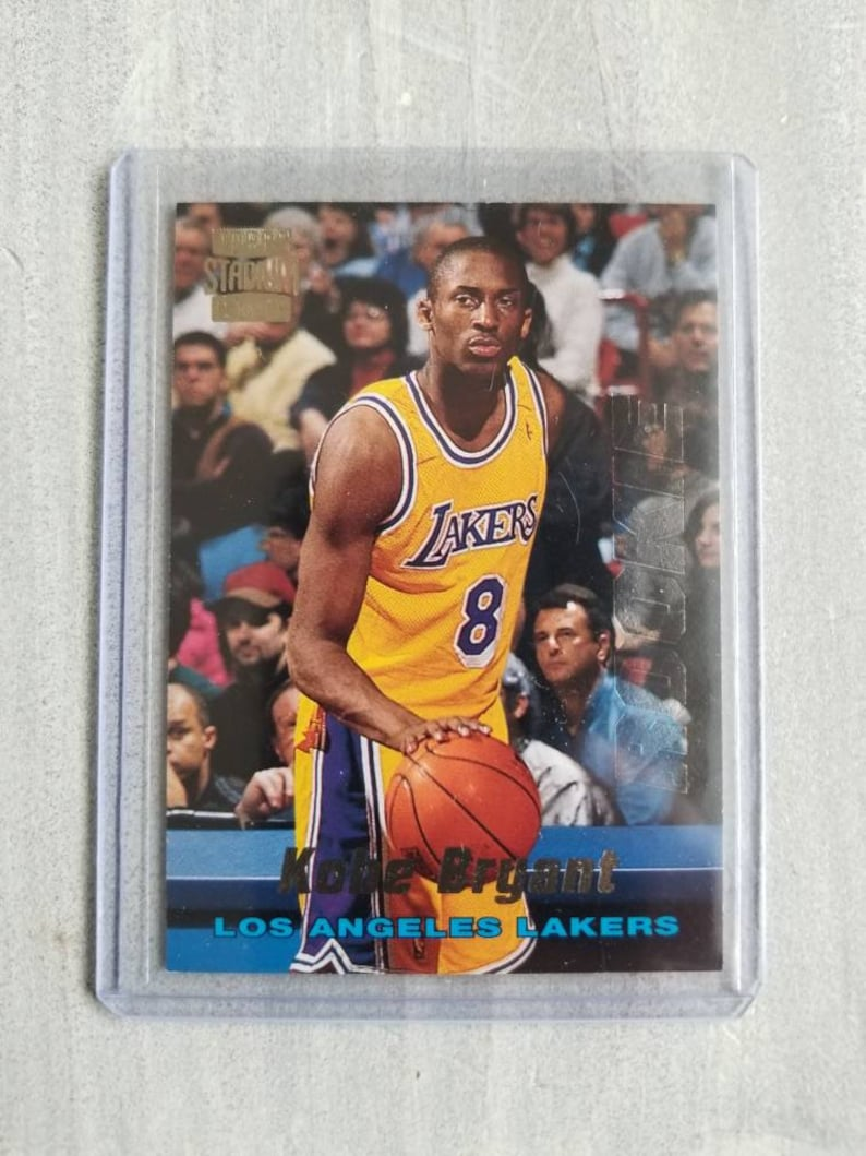Kobe Bryant Stadium Club Rookie Card Los Angeles Lakers True Rookie La Lakers Lakers Gift Gifts For Men Gifts For Him Boyfriend Gift