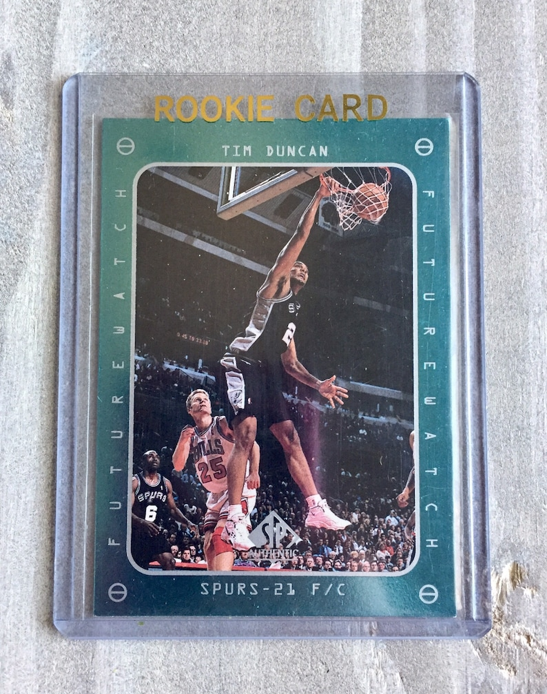 huge selection of 8e3ef d5203 Tim Duncan SP Rookie Card - San Antonio Spurs Gift, Wake Forest Demon  Deacons, Gifts for Men, Gifts for Boyfriend Gift