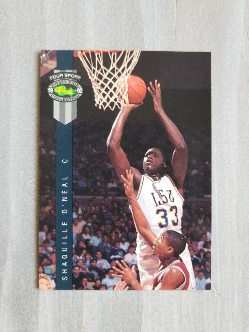 Shaq Rookie Card Shaquille Oneal Los Angeles Lakers Gift Lsu Tigers La Lakers Orlando Magic Gifts For Men Gifts For Dad Boyfriend