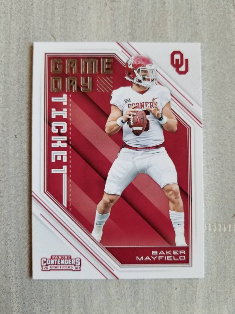Baker Mayfield Game Day Rookie Card Cleveland Browns Gift Ou Oklahoma Sooners Gifts For Men Boyfriend Gift For Him Boomer Sooner