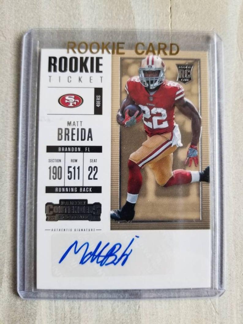 6824628b1 Matt Breida AUTOGRAPHED Rookie Football Card San Francisco