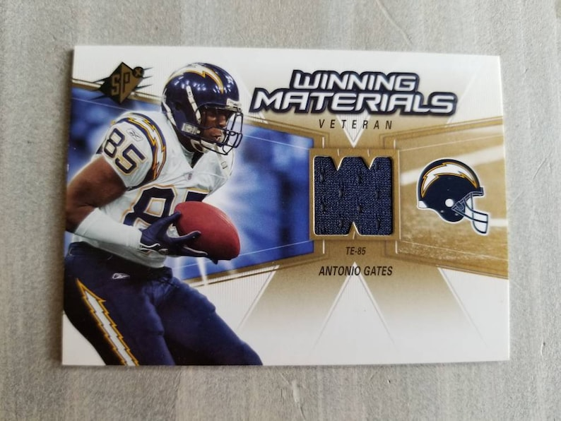 c931752c Antonio Gates Game Used Jersey Card, San Diego Chargers Gift, Birthday  Gifts for Men, Gifts for Him, Gifts for Boyfriend Gift