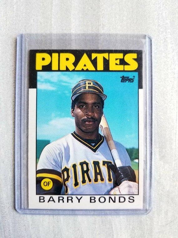 Barry Bonds 1986 Topps Rookie Card San Francisco Giants Vintage Baseball Cards Sf Giants Gift Giants Shirt Gifts For Men Him