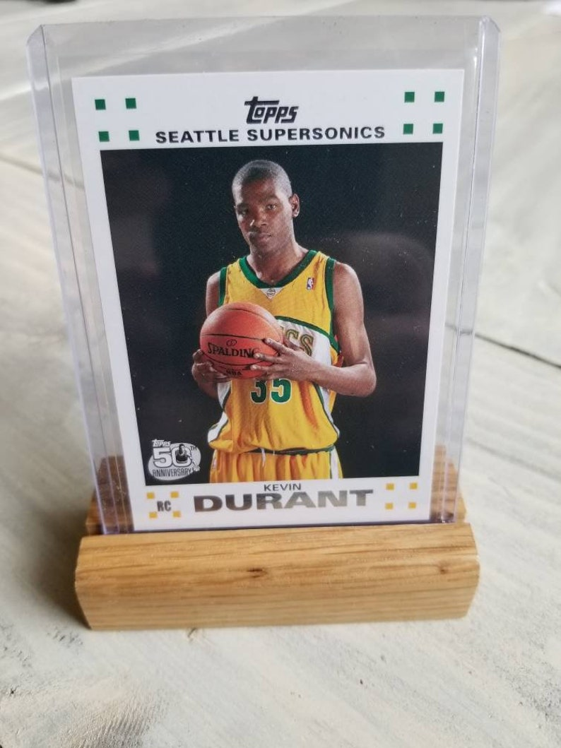 Kevin Durant Topps Rookie Card Handmade Display Holder Golden State Warriors Gift Gifts For Men Gifts For Boyfriend Gift For Him