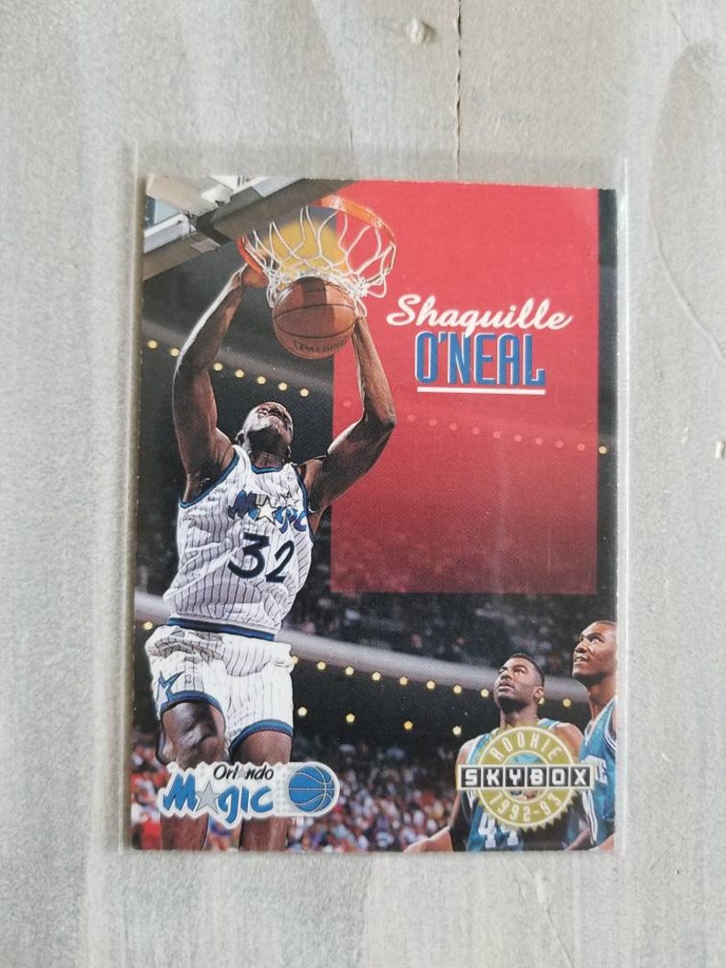 Shaq Rookie Card Shaquille Oneal Los Angeles Lakers Gift Lsu Tigers La Lakers Orlando Magic Birthday Gift For Him Men Dad