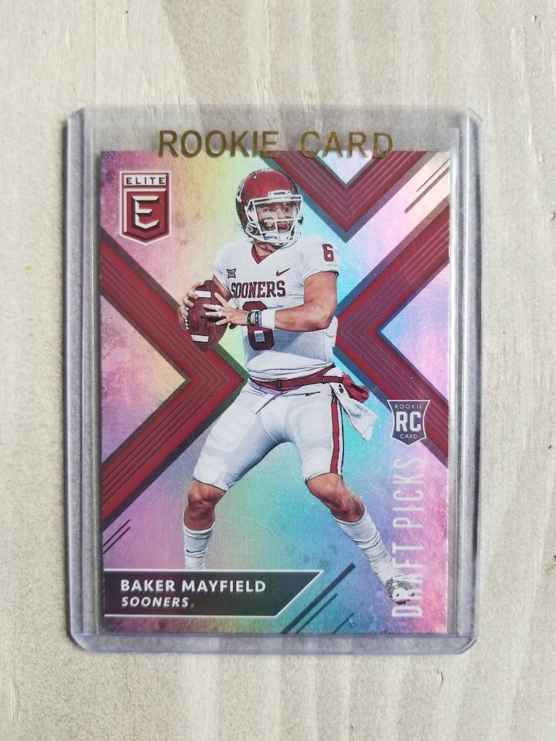 Baker Mayfield Rookie Card Cleveland Browns Gift Ou Oklahoma Sooners Gifts For Men Boyfriend Gift For Him Boomer Sooner