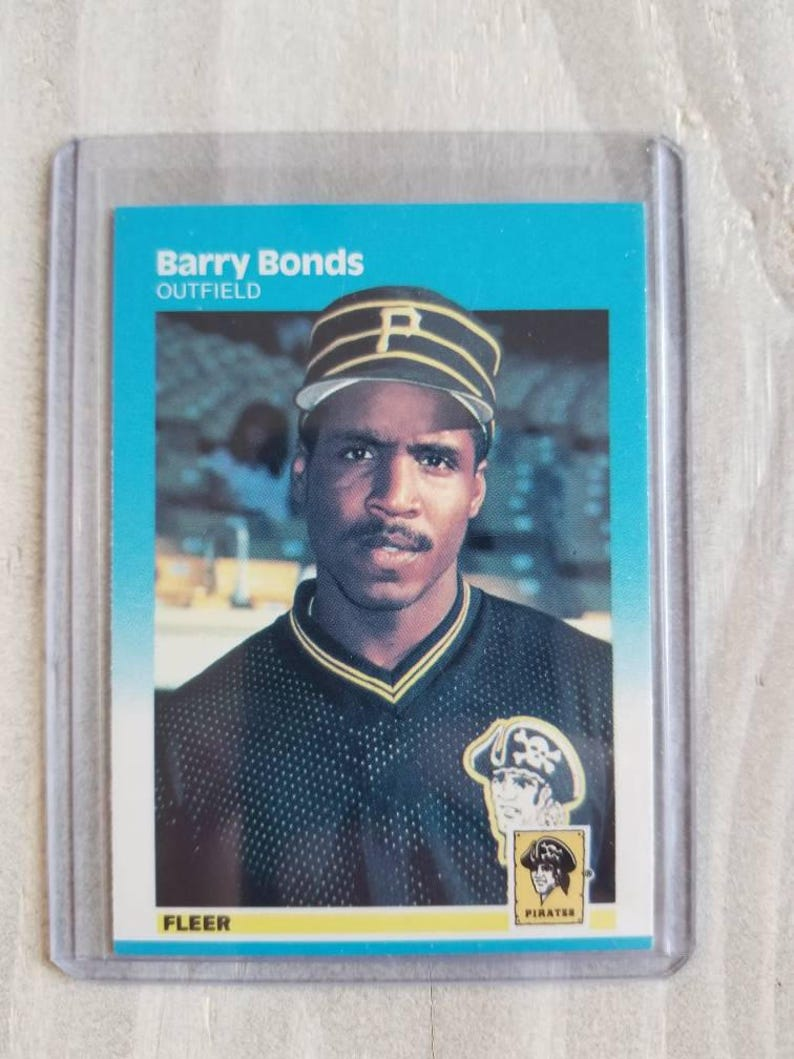Barry Bonds 1987 Fleer Rookie Card San Francisco Giants Gift Vintage Baseball Cards Sf Giants Gift Gifts For Men Him Boyfriend Gift