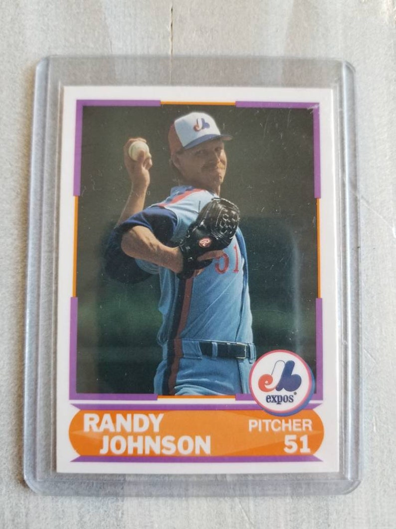 Rare Randy Johnson Score Rookie Card Arizona Diamondbacks New York Yankees Seattle Mariners Montreal Expos Gifts For Men Gifts For Him