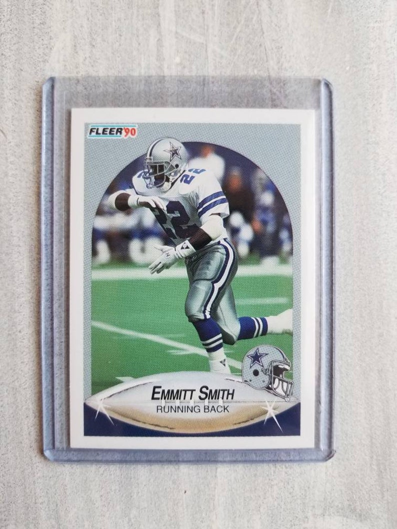 Emmitt Smith Rookie Card True Rookie Dallas Cowboys Florida Gators Cowboys Gift Boyfriend Gift Birthday Gift For Him Men Boss