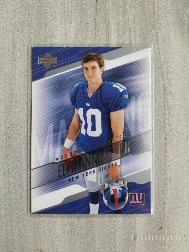 Eli Manning Rookie Card Upper Deck New York Giants Gift Ny Giants Decor Gifts For Men Gifts For Him Boyfriend Gift For Men
