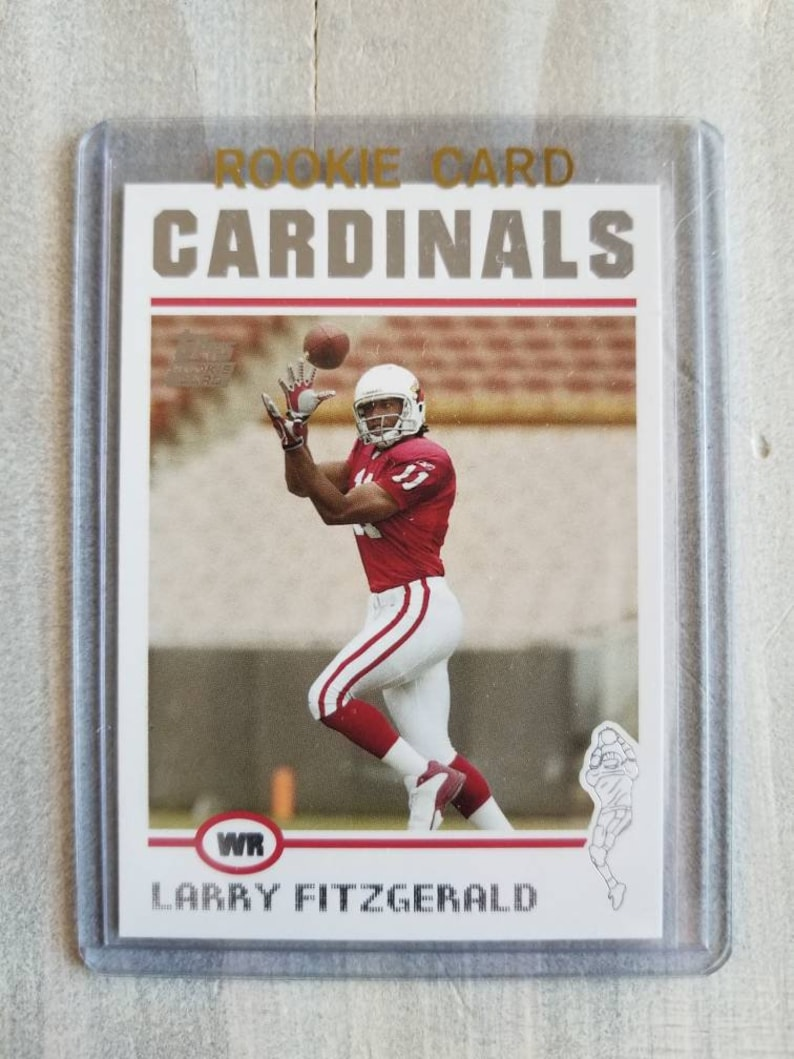 89f3dc242cea Larry Fitzgerald Topps Rookie Card Arizona Cardinals Gift