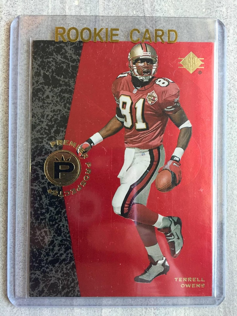 the latest 56dcd f09f1 Terrell Owens 1996 SP Rookie Card - Football Cards - San Francisco 49ers  Jersey, Shirt, Baby - Dallas Cowboys, 49ers Gift, Gifts for Men