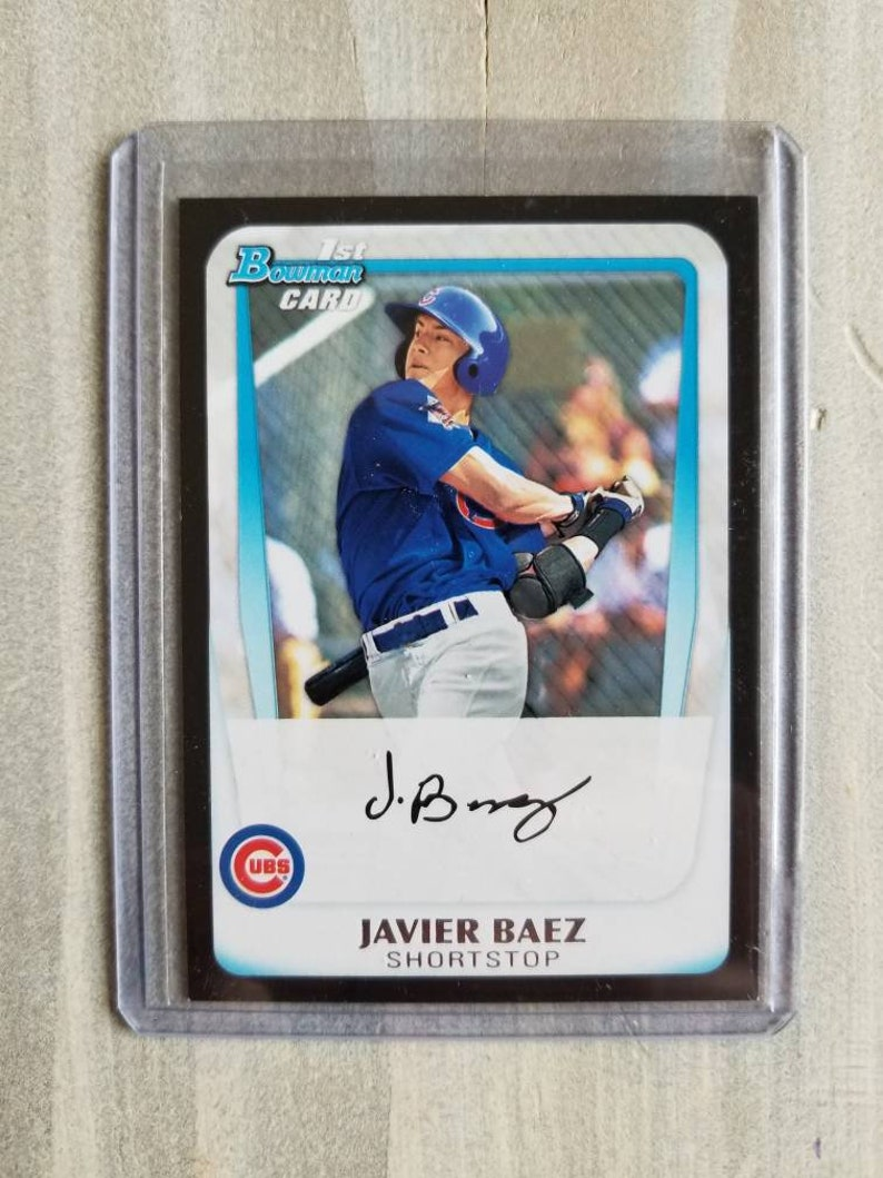 Javier Baez Bowman Rookie Card Chicago Cubs Gift Birthday Gift For Him Gifts For Men Gifts For Him Gifts For Boyfriend Gift
