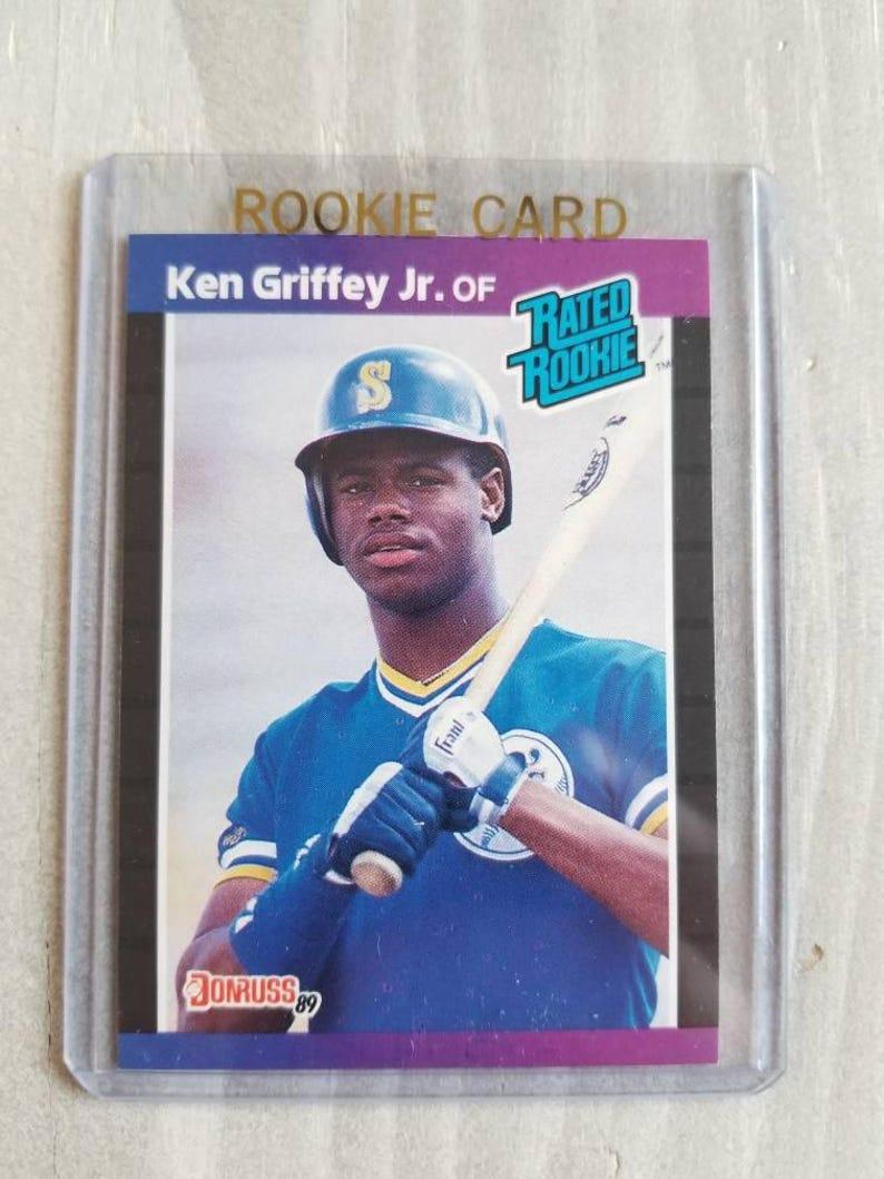 8bc8561648 Ken Griffey Jr Donruss Rookie Card Seattle Mariners Gift   Etsy