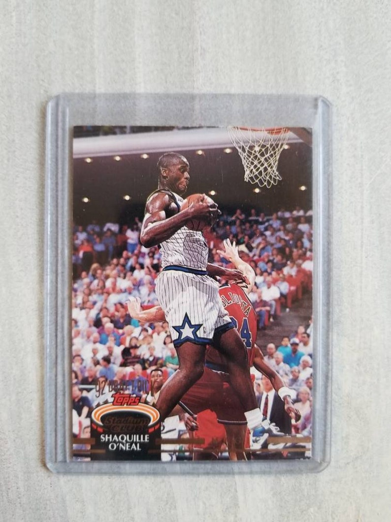 Shaq Rookie Card Shaquille Oneal Los Angeles Lakers Gift Lsu Tigers La Lakers Orlando Magic Basketball Cards Birthday Gift