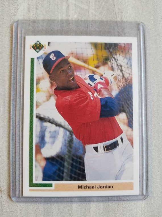Michael Jordan Upper Deck Baseball Rookie Card Chicago White Sox Chicago Cubs Chicago Bulls Birthday Gift For Him Gifts For Men