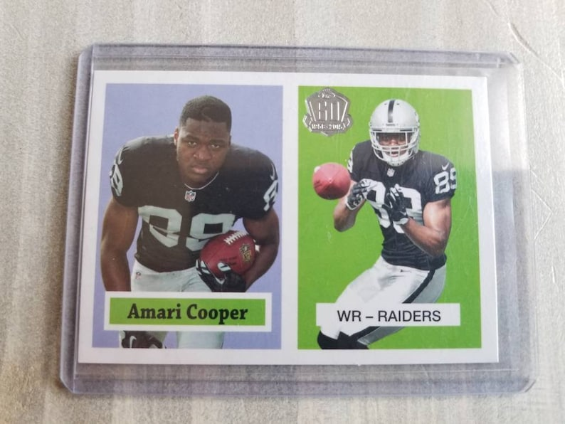 Amari Cooper Topps Rookie Card Dallas Cowboys Gift Oakland Raiders Alabama Crimson Tide Gifts For Men Gifts For Boyfriend Gift